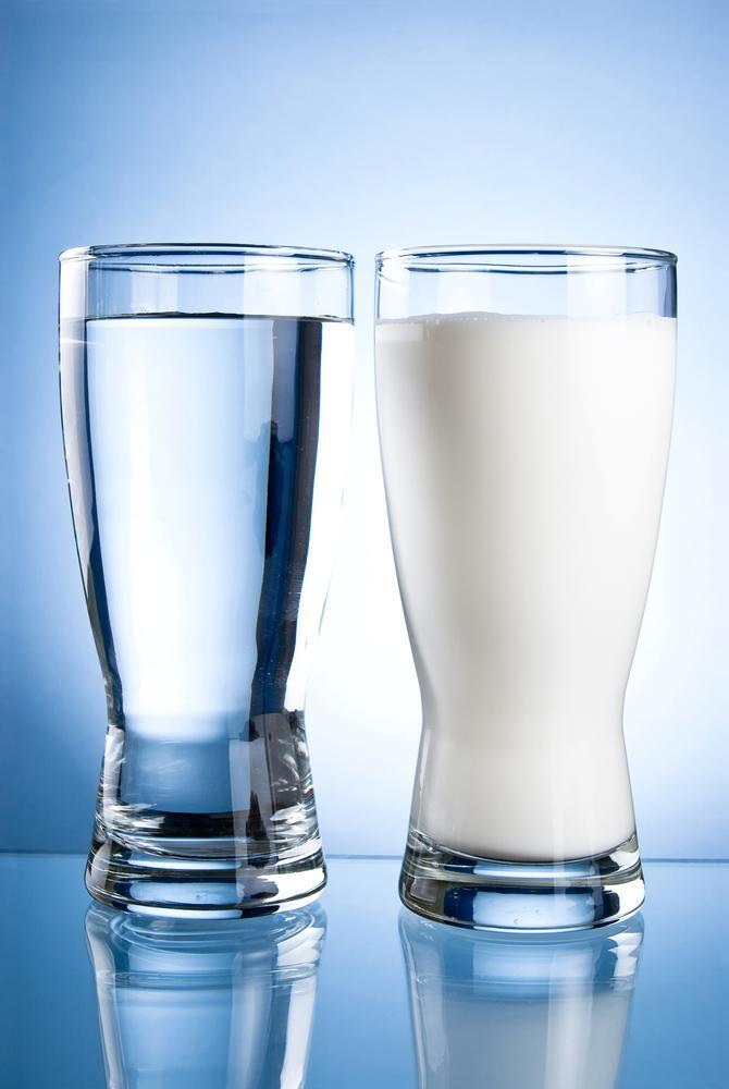 milk or water for protein